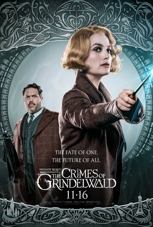 Fantastic Beasts: The Crimes of Grindelwald (2018) Poster - Jacob and Queenie