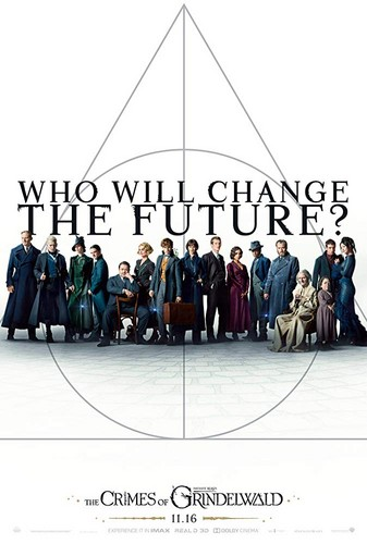 Fantastic Beasts and Where to Find Them fondo de pantalla entitled Fantastic Beasts: The Crimes of Grindelwald (2018) Poster - Who will change the future?