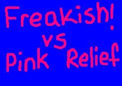 Freakish Vs rosa, -de-rosa Relief ícone