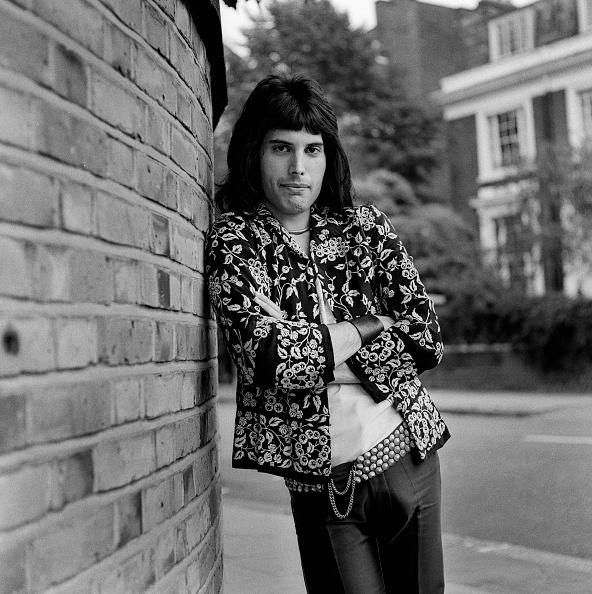 Freddie Mercury photographed by George Wilkes on August 1, 1973