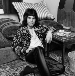 Freddie Mercury photographed by George Wilkes on August 1, 1973