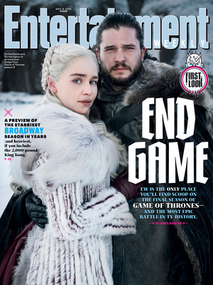 Game of Thrones Season 8 - Daenerys Targaryen and Jon Snow at Entertainment Weekly cover