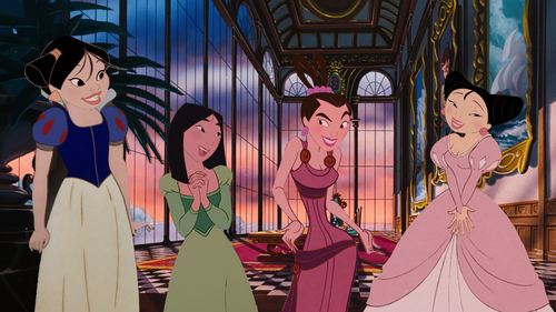 princesas de disney fondo de pantalla called Girls of mulan franchise as disney (Non-)Princesses
