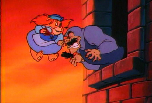 Disney's Adventures of the Gummi Bears fond d'écran titled Grammi honks Igthorn's nose