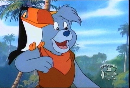 Disney's Adventures of the Gummi Bears fond d'écran entitled Gusto and his bird Artie Deco