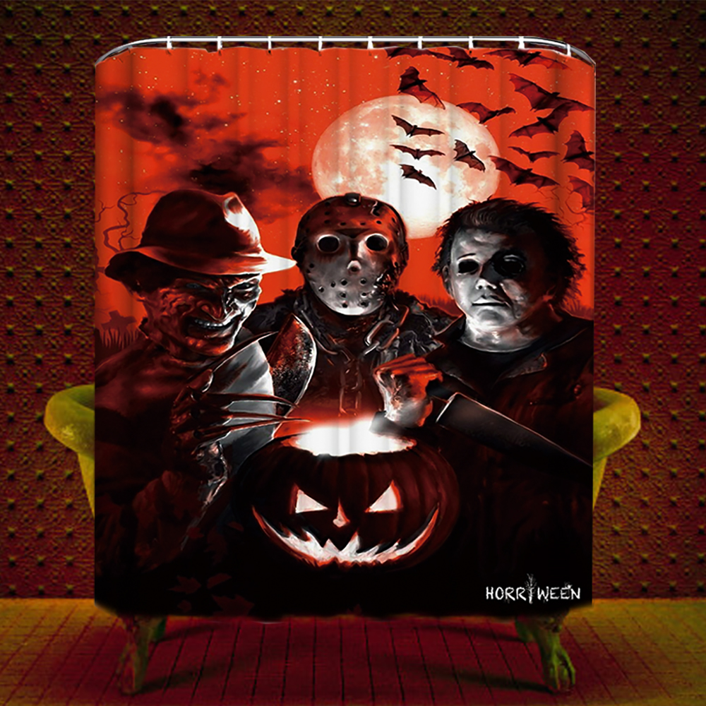 Films Dhorreur Fond Dcran Entitled Halloween Douche Curtain