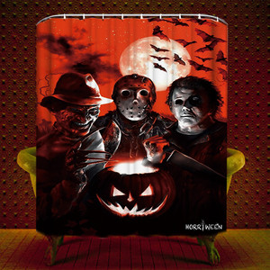 Halloween paliguan Curtain