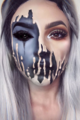 Halloween makeup🍂🎃 - random photo