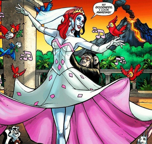 Young Justice boys belong to us! Hintergrund called Harley Quinn's wedding dress!