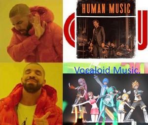 Hatsune Miku Vocaloid âm nhạc is better, Human âm nhạc sucks