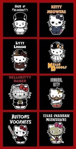 jlhfan624 fondo de pantalla called Hello Kitty/Horror Movie Characters