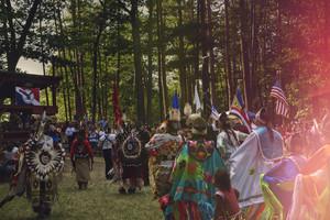 Honoring the Ogitchidaag Powwow Keweenaw ベイ, 湾 Ojibwe Reservation Michigan