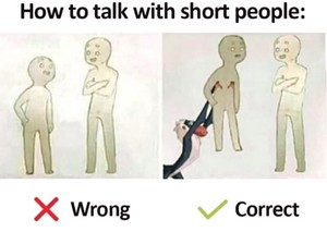 How to talk with short people