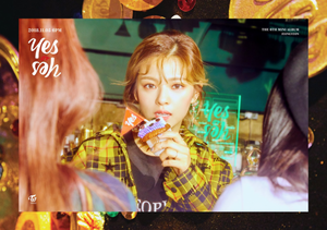 "Jeongyeon's teaser image for ""Yes یا Yes"""