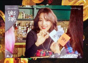 "Jihyo's teaser image for ""Yes oder Yes"""