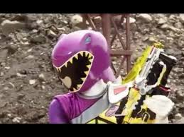 Kendall Morphed As The Purple Dino Charge Ranger