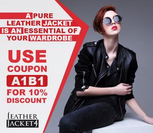 Leather koti, jacket for Women online shopping