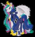 Luna and Celestia - xlunaselenex photo