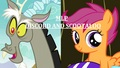 MLP Discord and Scootaloo Cover - discord-my-little-pony-friendship-is-magic fan art