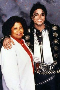 Michael And His Mother Backstage