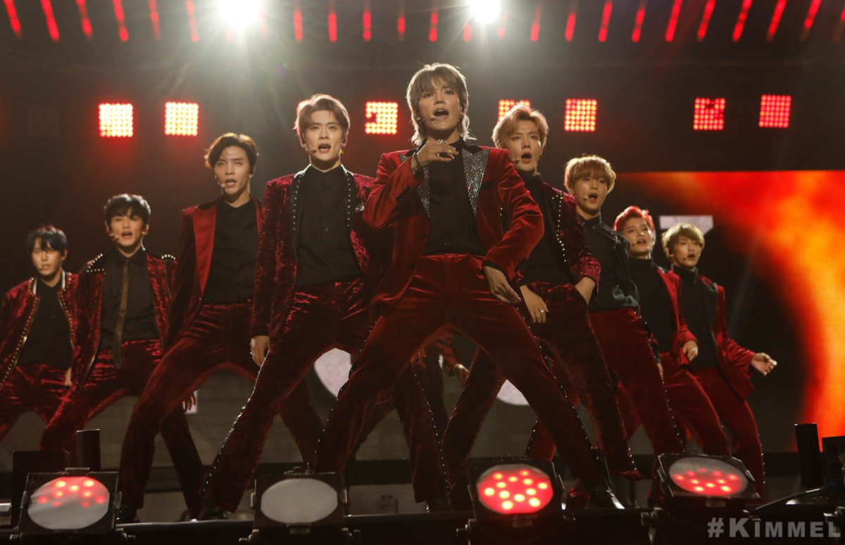 NCT 127 at the US debut stage Jimmy Kimmel Live! - NCT U