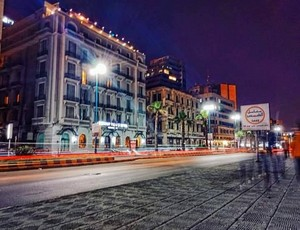 NIGHT LIGHT ALEXANDRIA EGYPT