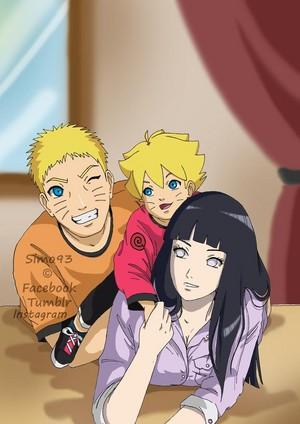 Naruto, Hinata and Boruto // 火影忍者
