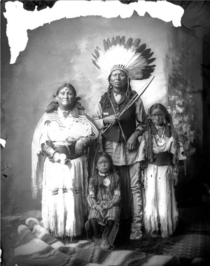 Native American Plains family 1880-1900