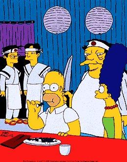 Les Simpsons fond d'écran called One Fish, Two Fish, Blowfish, Blue poisson