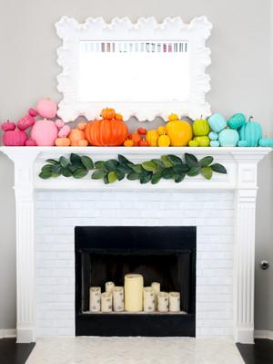 pelangi, rainbow labu Fireplace
