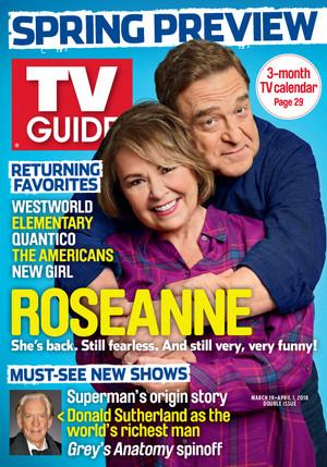 Roseanne Barr and John Goodman - TV Guide Cover - 2018