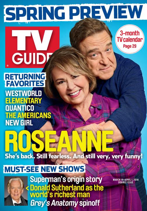 Roseanne Barr Images Roseanne Barr And John Goodman Tv Guide Cover