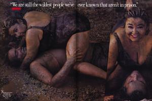 Roseanne Barr and Tom Arnold - Vanity Fair Photoshoot - 1990
