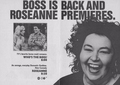Roseanne's Series Premiere Ad - 1988 - roseanne photo