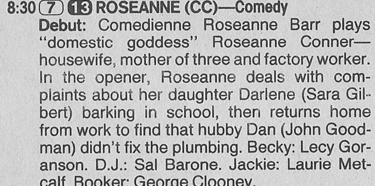 Roseanne's Series Premiere description - 1988