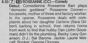Roseanne's Series Premiere Description - 1988