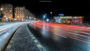 rua NIGHT ALEXANDRIA EGYPT