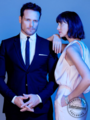 Sam Heughan and Caitriona Balfe at SCAD Savannah Film Festival - EW Portrait