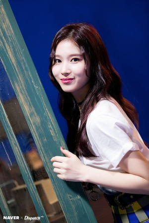 """Sana """"YES or YES"""" MV Shooting by Naver x Dispatch"""