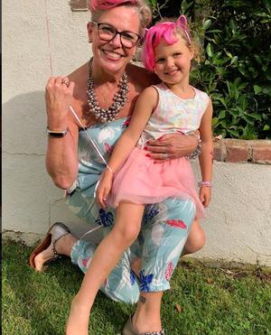 Sandra and Mavi at Mavi's 5th birthday party.