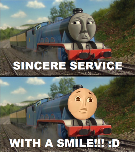 Thomas the Tank Engine wallpaper entitled Sincere Service