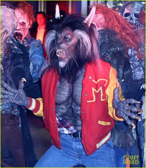 Someone dressed as thriller werewolf Michael