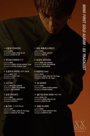 Song Min Ho drops his tracklist for 'XX'