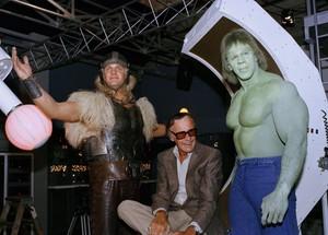 Stan Lee, Eric Kramer, and Lou Ferrigno