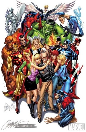 Stan Lee Marvel Tribute art da J. Scott Campbell