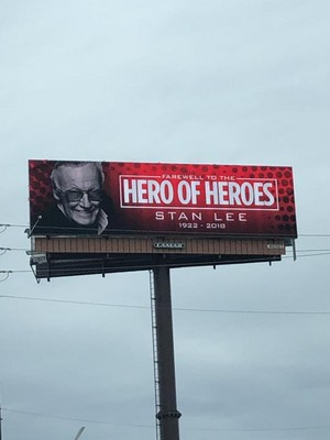 Stan Lee R.I.P. billboards