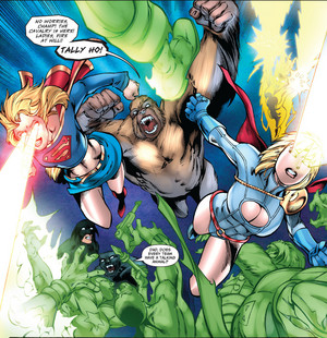 Supergirl, Congorilla, and Power Girl