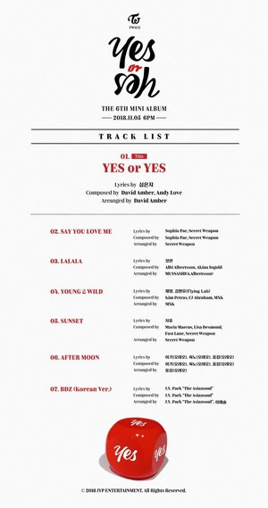 TWICE drop full tracklist for 6th mini album 'Yes o Yes'!