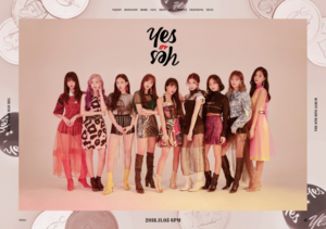 TWICE group teaser image for 'Yes یا Yes'