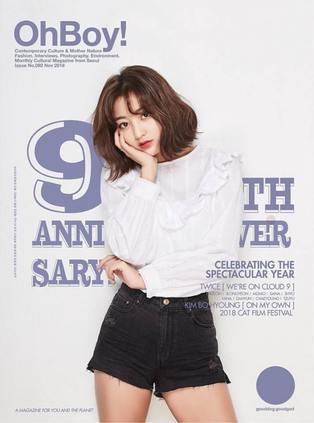 TWICE take the cover of 'Oh Boy!' magazine's 9th-anniversary issue